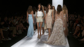 Badgley Mischka at Mercedes-Benz Fashion Week New York City 455165324